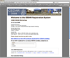 CEDAR website screenshot thumbnail
