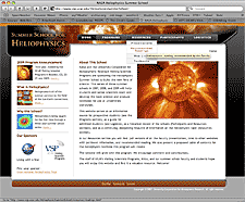 heliophysics website screenshot thumbnail