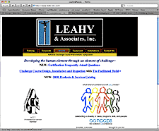 Leahy website screenshot thumbnail